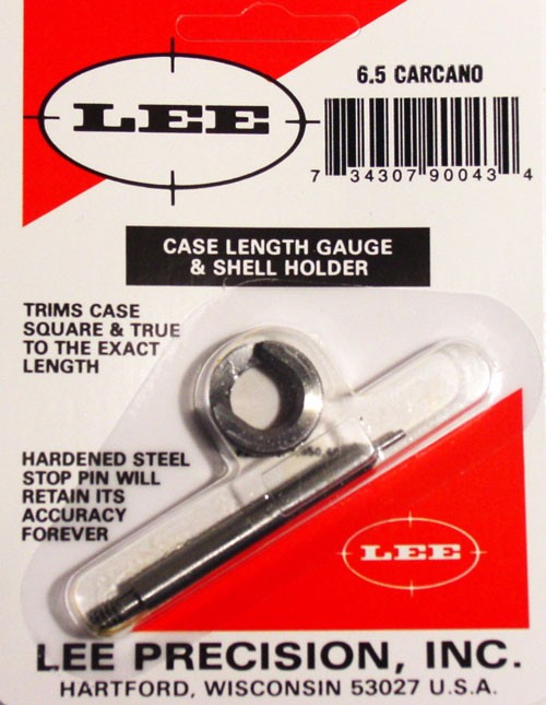 Lee Case Length Gage and Shellholder 6.5mm Carcano