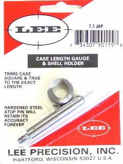 Lee Case Length Gage and Shellholder 7.7mm Japanese