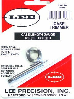 Lee Case Length Gage and Shellholder 22-250 Remington