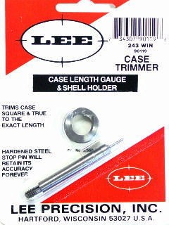 Lee Case Length Gage and Shellholder 243 Winchester
