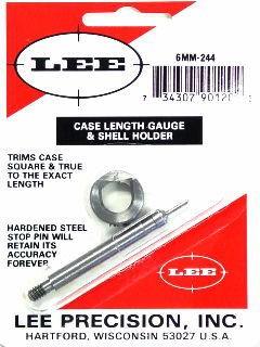 Lee Case Length Gage and Shellholder 6mm Remington