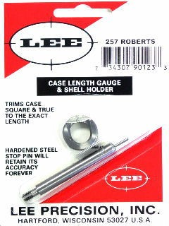 Lee Case Length Gage and Shellholder 257 Roberts