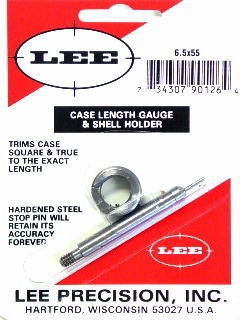 Lee Case Length Gage and Shellholder 6.5x55mm Swedish Mauser