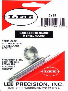 Lee Case Length Gage and Shellholder 7x57mm Mauser (7mm Mauser)