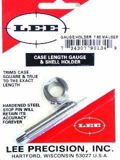 Lee Case Length Gage and Shellholder 7.65mm Argentine Mauser