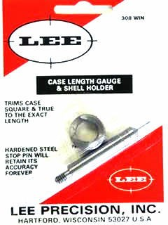 Lee Case Length Gage and Shellholder 308 Winchester