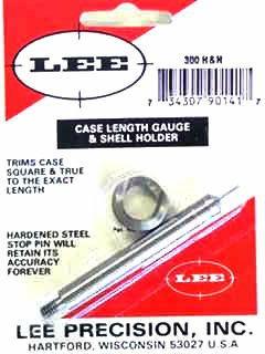 Lee Case Length Gage and Shellholder 300 H&H Magnum, 300 Remington Ultra Magnum