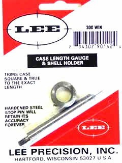 Lee Case Length Gage and Shellholder 300 Winchester Magnum