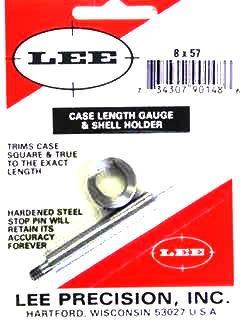 Lee Case Length Gage and Shellholder 8x57mm Mauser (8mm Mauser)