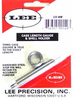 Lee Case Length Gage and Shellholder 338 Winchester Magnum