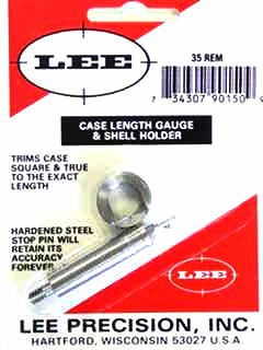 Lee Case Length Gage and Shellholder 35 Remington