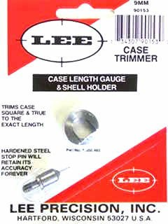 Lee Case Length Gage and Shellholder 9mm Luger