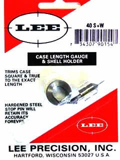 Lee Case Length Gage and Shellholder 40 S&W