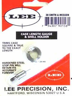 Lee Case Length Gage and Shellholder 38 S&W