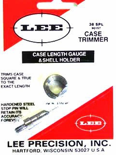 Lee Case Length Gage and Shellholder 38 Special