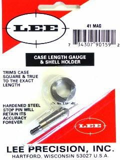 Lee Case Length Gage and Shellholder 41 Remington Magnum