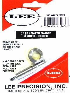 Lee Case Length Gage and Shellholder 375 Winchester
