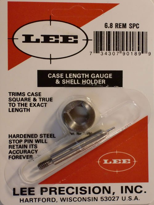 Lee Case Length Gage and Shellholder 6.8mm Remington SPC