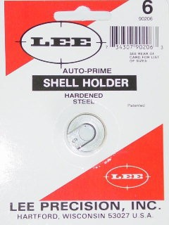 Lee Auto Prime Hand Priming Tool Shellholder #6 (218 Bee, 25-20 WCF, 32-20 WCF)